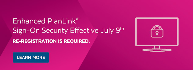 Enhanced PlanLink Sign On
